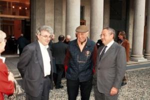 Colombo Clerici con gli Arch. Luigi Caccia Dominioni e Mario Botta