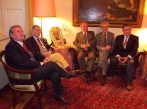 Giorgio Giudici, Marcello Staglieno, Achille Colombo Clerici, Michele Tortora, Domingo Merry del Val