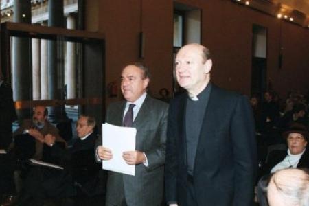 Achille Colombo Clerici con il card. Gianfranco Ravasi
