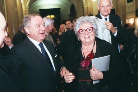 Achille Colombo Clerici con Livia Pomodoro