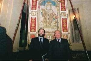 Achille Colombo Clerici con Umberto Ambrosoli