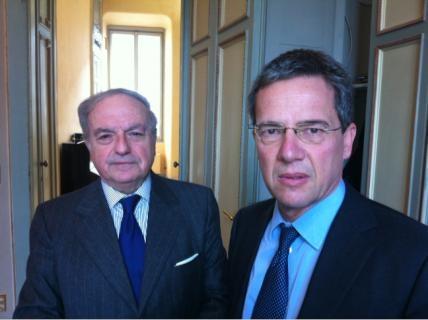 Achille Colombo Clerici con Luigi Casero