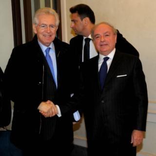 Achille Colombo Clerici con Mario Monti