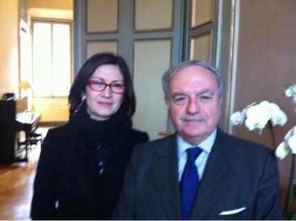 Achille Colombo Clerici con Maristella Gelmini