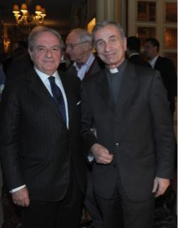 Achille Colombo Clerici con Mons. Francesco Fumagalli
