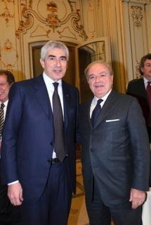 Achille Colombo Clerici con Pier Ferdinando Casini