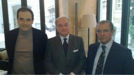 Colombo Clerici con Franco Mirabelli a sin. e Massimo Mucchetti