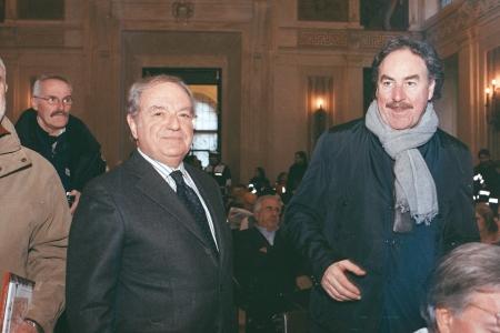Colombo Clerici con Giangiacomo Schiavi vice Direttore Corsera