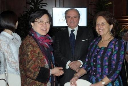 Excellent 2013 Console Cina Liang Hui e signora Laura Perego di Cremnago