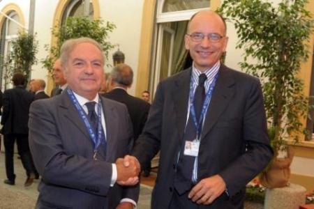 Achille Colombo Clerici con Enrico Letta