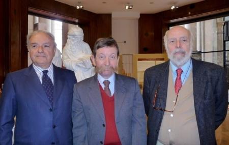 Colombo Clerici con Morlin Visconti e Leone Corradi dell'Acqua Consigliere della Fabbrica del Duomo