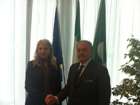 Colombo Clerici con Assessore Regione Lombardia Viviana Beccalossi