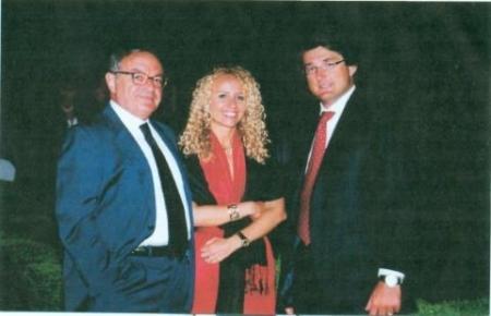 Colombo Clerici con la figlia Giulia e Stefano Simontacchi