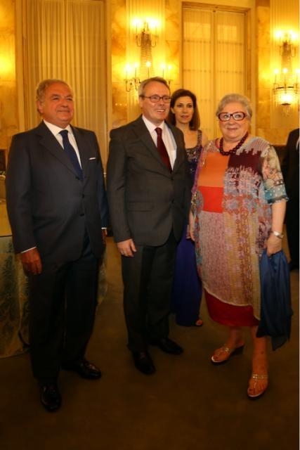 Francia Festa Nazionale Console Achille Colombo Clerici, il Console Joel Meyer con la Consorte Zoe` Meyer, Livia Pomodoro