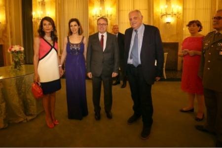 Francia Festa Nazionale Console atrizia Signorini, il Console Meyer con la Consorte, Giancarlo Mazzuca