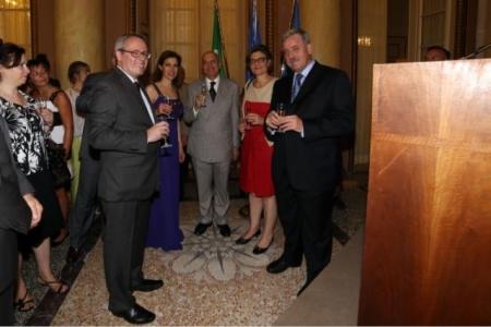 Francia Festa Nazionale Console Console Meyer, Gabriele Albertini, Ada Lucia De Cesaris, Guido Podesta