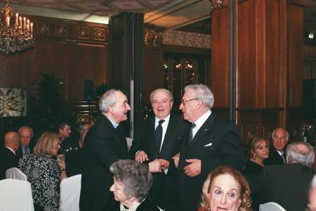 Prefetto della Biblioteca Ambrosiana mons. Franco Buzzi, Achille Colombo Clerici e Guglielmo Guidobono Cavalchini