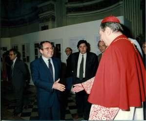 Colombo Clerici con Cardinale Martini