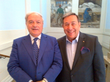 Achille Colombo Clerici con Paolo Grandi Pres. Associazione Carlo Cattaneo Lugano