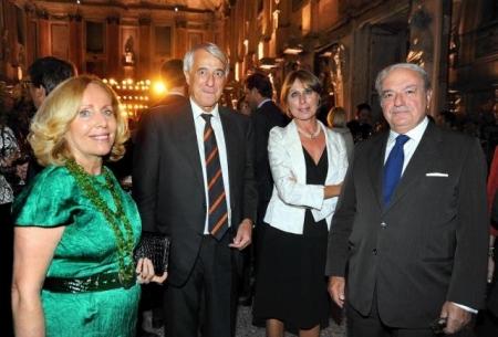 Achille e Giovanna Colombo Clerici con il Sindaco di Milano Giuliano Pisapia e la moglie Cinzia Sasso