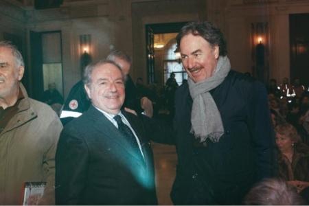 Achille Colombo Clerici con Giangiacomo Schiavi