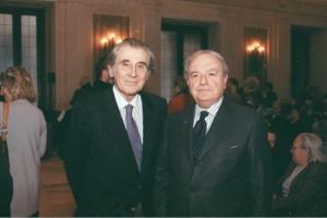 Achille Colombo Clerici con Ippolito Calvi di Bergolo, vicepresidente di AMICI DI MILANO