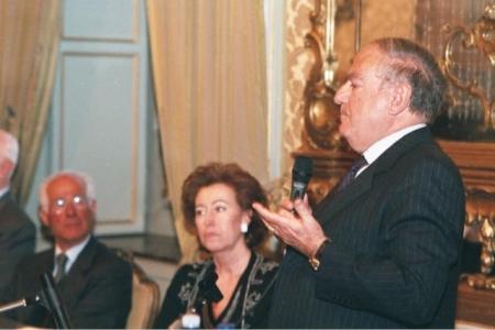 Achille Colombo Clerici con Letizia Moratti