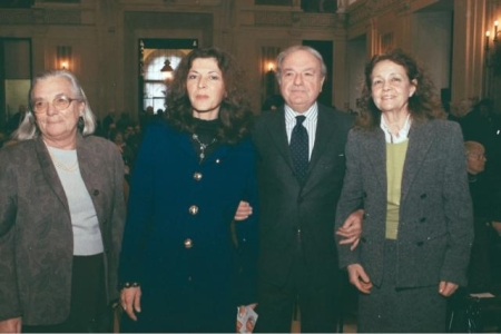 Achille Colombo Clerici con Milly Moratti, Marilisa d'Amico, Maria Grazia Dente