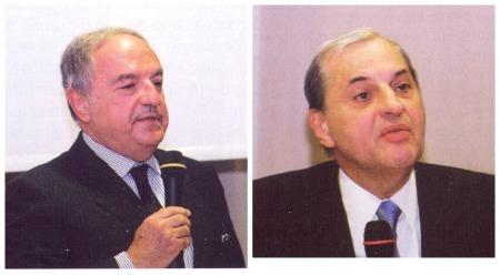 Achille Colombo Clerici con Prof. Giampio Bracchi
