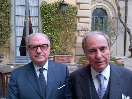 Achille Colombo Clerici con Riccardo Riccardi presidente Banca della Nuova Terra
