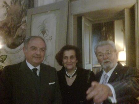 Colombo Clerici con Fernanda Giulini e James Galway