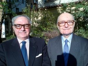 Achille Colombo Clerici con Gianfranco Gaffuri