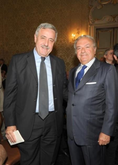 Achille Colombo Clerici con Guido Podestà