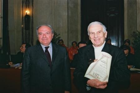 Colombo Clerici con Silvio Garattini