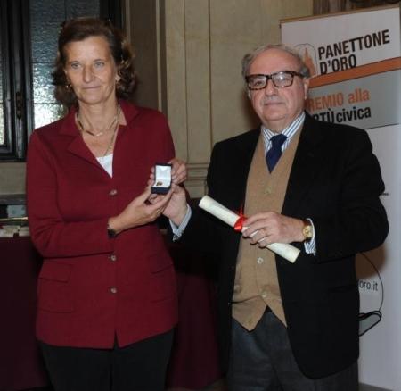 Presidente con Beatrice Bergamasco