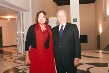 Achille Colombo Clerici con Carmela Rozza