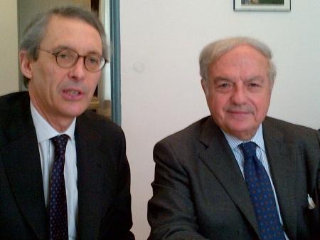 Achille Colombo Clerici con il Presidente AIBA Carlo Marietti Andreani