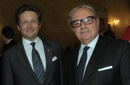 Achille Colombo Clerici presidente dell'Istituto Europa Asia con il Console Generale di Svizzera Massimo Baggi