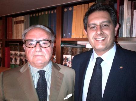 Achille Colombo Clerici con Giovanni Toti