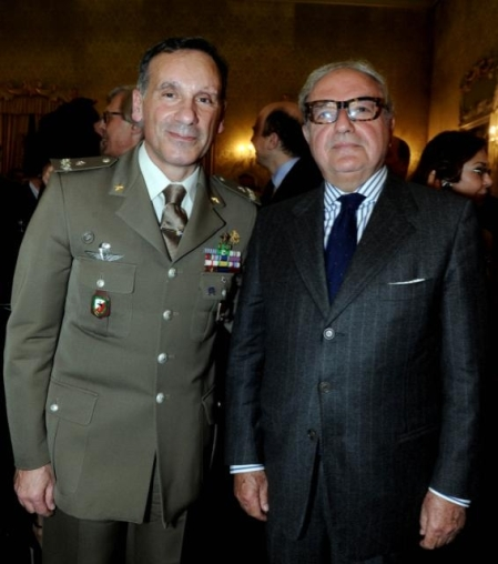 Achille Colombo Clerici con il gen. Antonio Pennino