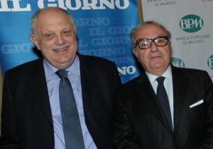 Achille Colombo Clerici con Giancarlo Mazzuca direttore Il Giorno
