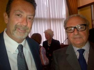 Achille Colombo Clerici con il ministro Marcello Fondi