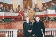 Achille Colombo Clerici con il Prefetto della Ambrosiana mons. Franco Buzzi