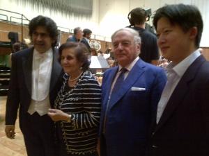 Chen Guang Con Alberto Veronesi, Fernanda Giulini e Achille Colombo Clerici