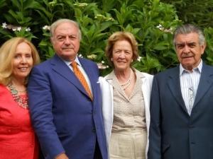 da destra Domingo ed Elena Merry del Val, Achille e Giovanna Colombo Clerici