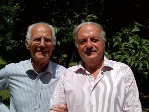 il Presidente dell'Associazione Amici di Milano Achille Colombo Clerici con il past President Bernardo Negri da Oleggio