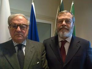 Achille Colombo Clerici con Alessandro Panza di Biumo