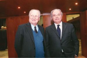 Achille Colombo Clerici con Ugo Dozzio Cagnoni Presidente Associazione Proprietà Fondiaria