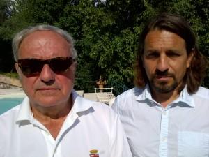 Antonio Armano con il presidente dell'Istituto Europa Asia Achille Colombo Clerici