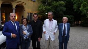 da sin. Achille Colombo Clerici, Fernanda Giulini, Claude Richard, Stefano Alberti de Mazzeri, Eugenio Bergamasco